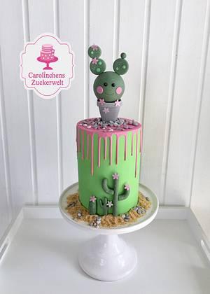🌵 Cactus Dripcake 🌵 - Cake by Carolinchens Zuckerwelt