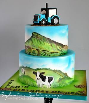 Farmer`s 50 th Birthday Cake - Cake by Sylwia Sobiegraj The Cake Designer