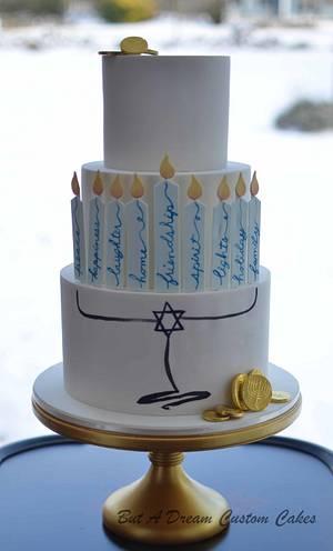 Hanukkah Cake - Cake by Elisabeth Palatiello