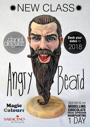 """Angry Beard"" NEW CLASS for 2018 - Cake by Daniel Diéguez"