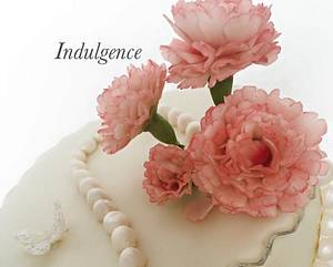 Carnations and pearls  - Cake by Indulgence