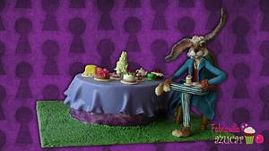 March hare from Alice in Wonderland - Cake by Fabriquilla de Azucar