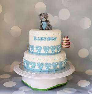 Me to You babyshower cake - Cake by Pluympjescake