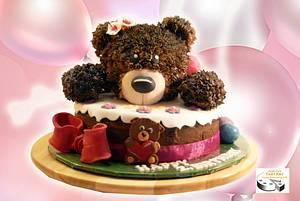 bear birthday cake - Cake by Aurelia'sTartArt