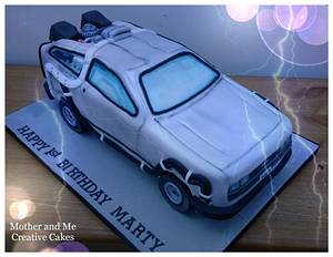 Dolorean Car Cake - Cake by Mother and Me Creative Cakes