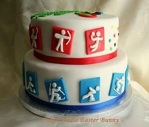 Olympic games cake - Cake by Irina Vakhromkina