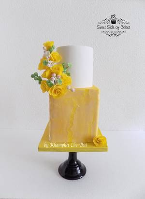 Yellow Beauty - Cake by Sweet Side of Cakes by Khamphet