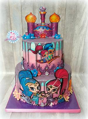 Shimmer and Shine cake - Cake by Sam & Nel's Taarten