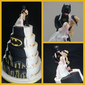 Batman Wedding Cake - Cake by Julie Anne White