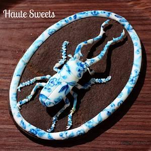 Porcelain Stag Beetle cookie - Cake by Hiromi Greer
