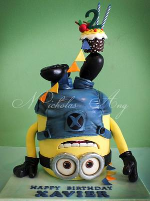 Headstand Minion - Cake by Nicholas Ang