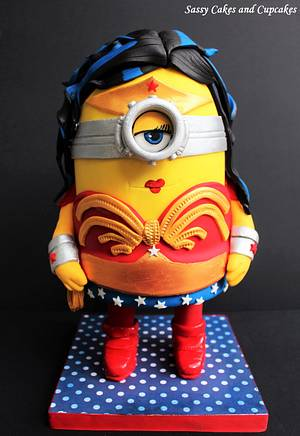 Wonder Minion - Cake by Sassy Cakes and Cupcakes (Anna)
