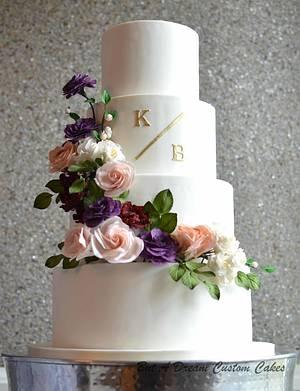 Sugar Flower Wedding Cake - Cake by Elisabeth Palatiello