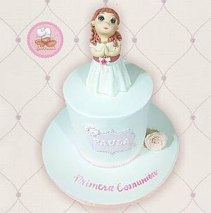 Paula's First Communion - Cake by Gele's Cookies