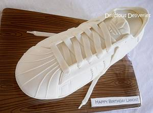 Shell Toe Adidas Sneaker Cake - Cake by DeliciousDeliveries