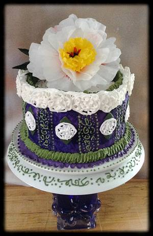 """IT'S ALL ABOUT THE PIPING-MY BIRTHDAY CAKE - Cake by June (""""Clarky's Cakes"""")"""
