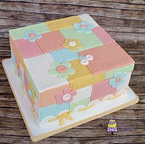 Patchwork cake - Cake by M&G Cakes