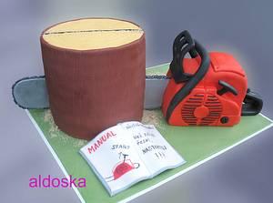 Chainsaw cake - Cake by Alena