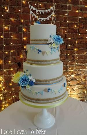 Bunting Blue - Cake by LucieLovesToBake