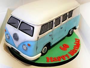Sky Blue VW Campervan - Cake by Danielle Lainton