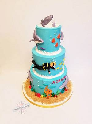 Sharky Shark - Cake by Simply Delicious Cakery