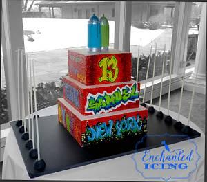 Sam's Graffiti Cake - Cake by Enchanted Icing