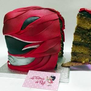 Power ranger red helmet - Cake by Rafaela Carrasco (La Tartería de Rafi)