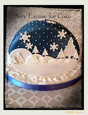 snow globe  - Cake by Any Excuse for Cake