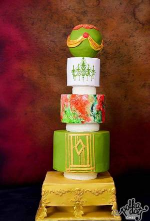 Moroccan inspired wedding cake - Cake by Monika Srivastava