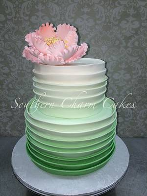 Ombre Green  - Cake by Michelle - Southern Charm Cakes