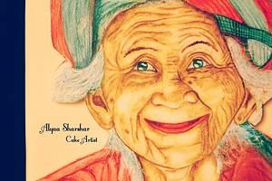 Beautiful Sri Lanka old woman - Cake by Alyaa sharshar