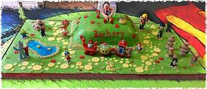 ultimate cbeebies in the night garden cake with mr tumble! - Cake by kellywalker123