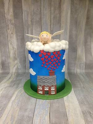Sweet art for world light day collaboration 2016 - Cake by Kaatje Fondant