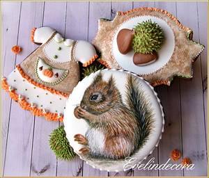 Autumn cookies - squirrel - Cake by Evelindecora
