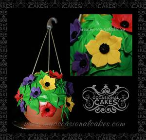 Hanging Plant Cake - Cake by Occasional Cakes