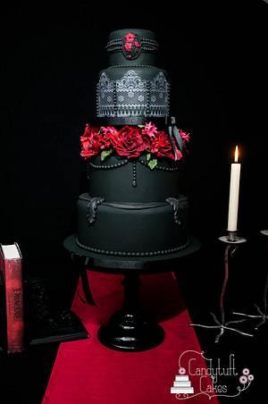 Gothic Elegance wedding cake - Cake by Kathryn