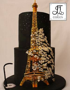 Eiffel Tower Cake - Cake by JT Cakes