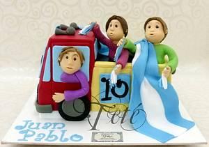 "CAKE ""FUTBOLL FANS "" - Cake by Teté Cakes Design"