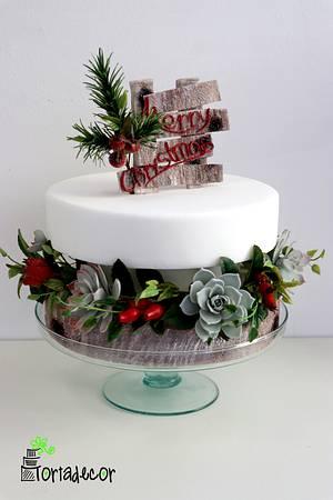 Merry Christmas Cake - Cake by Agnes Havan-tortadecor.hu