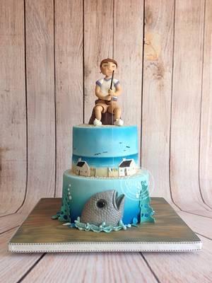 Arniston bay - My dad's 70th birthday cake - Cake by chefsam