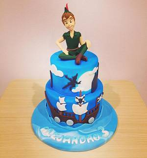 Peter Pan and his Neverland - Cake by Valeria Antipatico