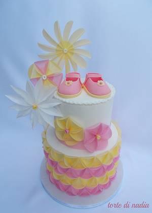 pink and yellow - Cake by tortedinadia