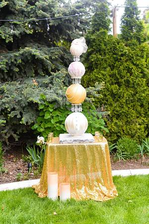 Couture Sphere Wedding Cake  - Cake by Sweet Delights By Krystal