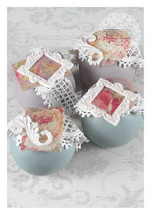 Wafer paper sphere cakes - Cake by Roses by Moonlight