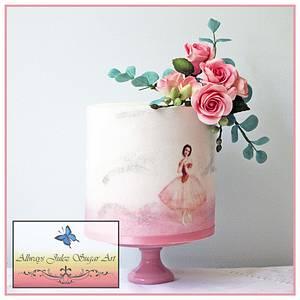 """""""Vintage Ballerina in Pink"""" - Cake by Allways Julez"""