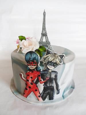 Miraculous ladybug - Cake by Veronika