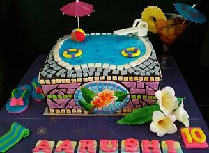 MOSAIC Swimming pool cake  - Cake by CAKE RAGA
