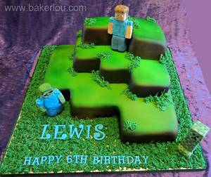 Minecraft Cake - Cake by Louise