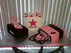 Shopping Cake with Coach Tote - Cake by Kimberly Cerimele