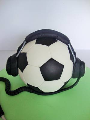 Football and music cake - Cake by Amy
